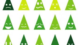 15 faccine albero Natale – Christmas tree emoticons