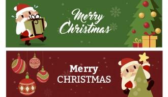 2 banner Babbo Natale – Santa Claus banner