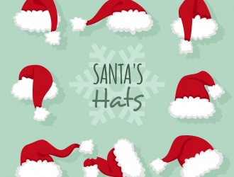 8 cappelli Babbo Natale – Christmas hats