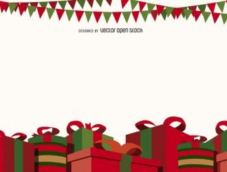 sfondo Natale regali – Christmas gift boxes background