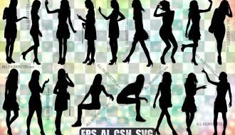 17 sagome donne, ragazze – skinny girl silhouette