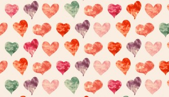 pattern cuori acquerelli – watercolor hearts pattern