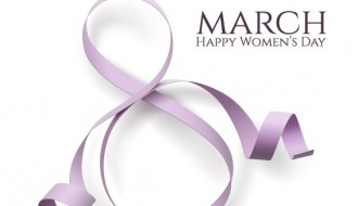 woman day 8 march card with ribbon – 8 marzo festa della donna