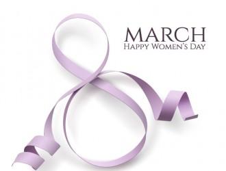woman day 8 march card with ribbon – 8 marzo festa della donna