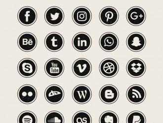 25 icone – social media icons