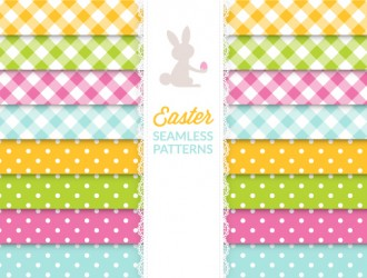 8 pattern coniglio – Easter seamless pattern