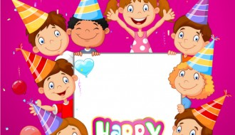 compleanno – Happy birthday with 8 children