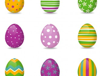 9 uova di Pasqua – 9 Easter colored eggs
