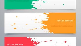 banner inchiostro schizzo – splatter ink banner