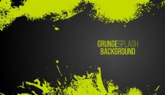 sfondo verde grunge – green paint splash frame background