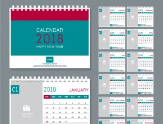 calendario 2018 scrivania – desk calendar 2018 templates