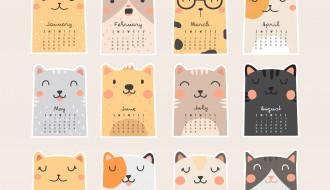 calendario 2018 gatti – cats calendar