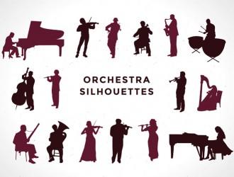 musicisti sagome orchestra – silhouettes orchestra