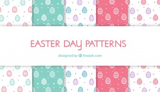 4 pattern uova di Pasqua – Easter Eggs pattern