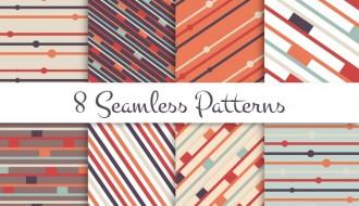 8 pattern geometrici – seamless patterns