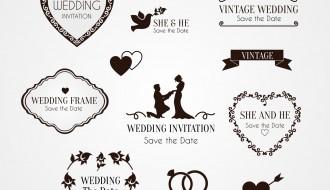 elementi decorativi invito matrimonio – ornaments wedding invitation
