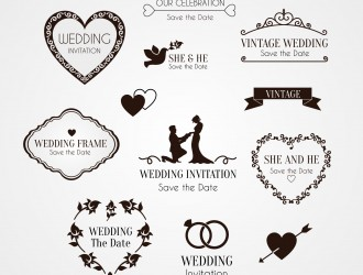 elementi decorativi invito matrimonio – ornaments wedding invitation