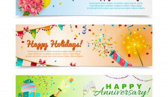 3 banner auguri – greetings banner
