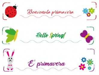 3 banner primavera animali fiori – spring animals flowers banners