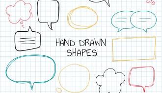nuvolette fumetti disegnate a mano – hand drawn bubbles