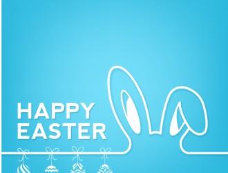 sfondo coniglio e uova di Pasqua – Happy Easter rabbit background
